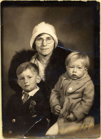Andy Warhol about the age of 3, with his mother Julia and brother John, 1932    sepia print    2 1/4 x 1 5/8 in. (5.7 x 4.1 cm.)    The Andy Warhol Museum, Pittsburgh; Founding Collection, Contribution The Andy Warhol Foundation for the Visual Arts, Inc.    1998.3.524    Read more at warhol.org: http://www.warhol.org/collection/aboutandy/biography/earlylife/1998-3-5247/#ixzz1mfqGti8D: Born, Mothers, August, Brother, Mother Julia, Andy Warhol, Baby Warhol, Pittsburgh 1928