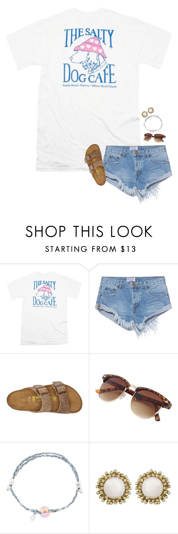 """I want a salty dog cafe shirt"" by sanddollars on Polyvore featuring One Teaspoon, Birkenstock, Alex and Ani and Kendra Scott"