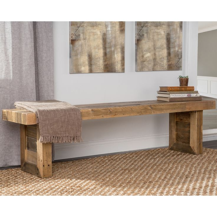 Kosas Home Handcrafted Oscar Natural Recovered Shipping Pallets 71-inch Bench (Natural), Brown Taupe (Pine)