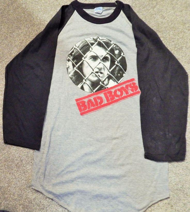 BAD BOYS T-SHIRT NICE YOUNG SEAN PENN PHOTO (VIDEO DEALER PROMO) BRAND NEW 1983