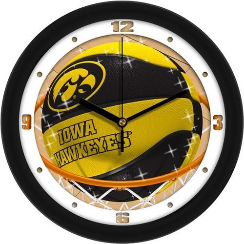 University of Iowa Hawkeyes Basketball Wall Clock