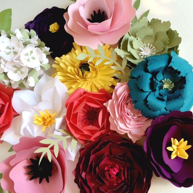 326 best party decoration paper flowers images on Pinterest ...