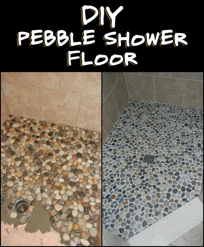 Best Bathroom Ideas Images On Pinterest Bathroom Ideas - Diy bathroom shower flooring ideas