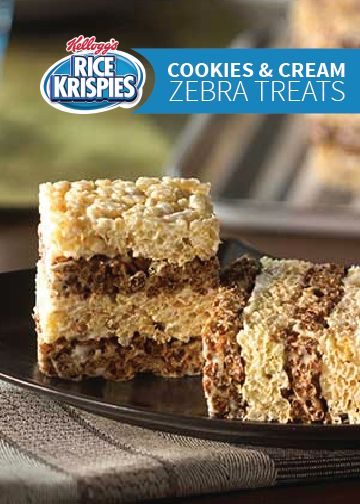 Cookies and cream, Rice krispies treats and Treats on Pinterest