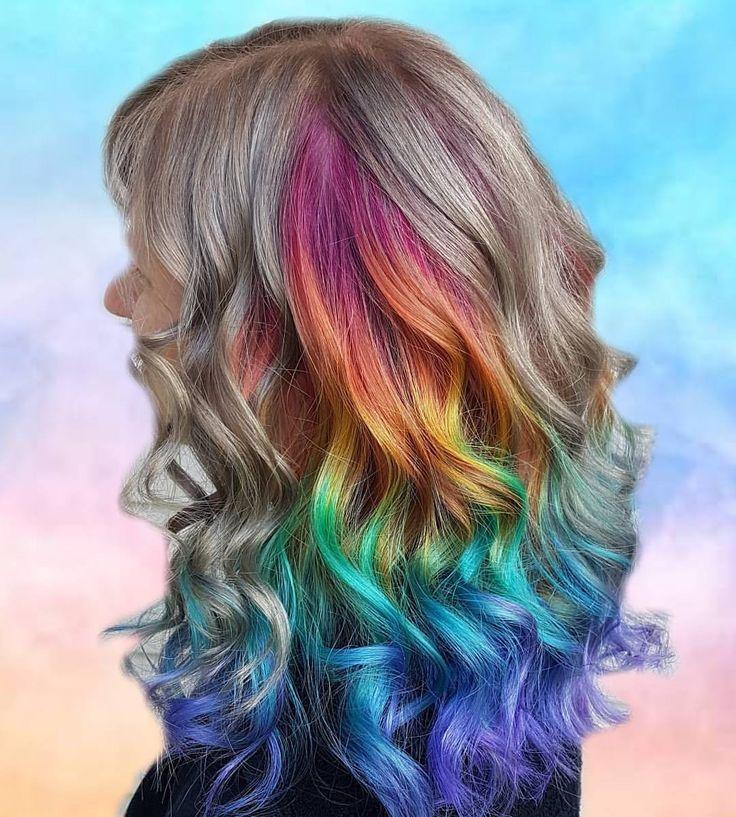"348 Likes, 8 Comments - Kate macfarlane (@katelsmac) on Instagram: ""More rainbows..... #behindthechair #btcmorningquickie #hotonbeauty #modernsalon #esteticalikes…"""