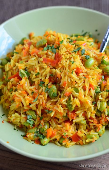 Slimming Eats Edamame and Vegetable Pilaf - gluten free, dairy free, vegetarian, Slimming World and Weight Watchers friendly