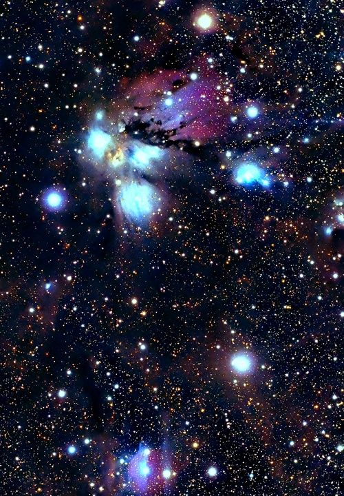 NGC 2170 is a reflection nebula in the constellation Monoceros. It was discovered on October 16, 1784 by William | http://exploringuniversecollections.blogspot.com