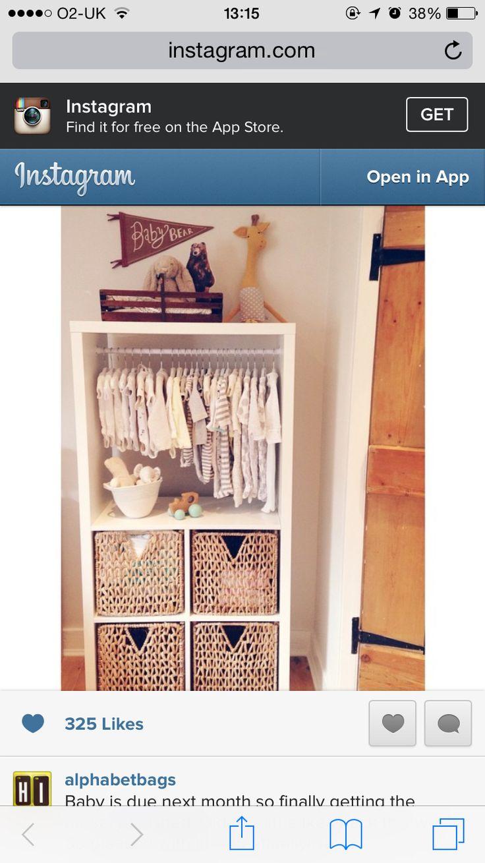 Ikea Kallax hack for baby room
