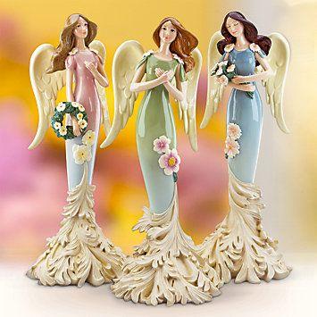 Hope of Spring Angels, Set of 3..se podria hacer en papel mache <3