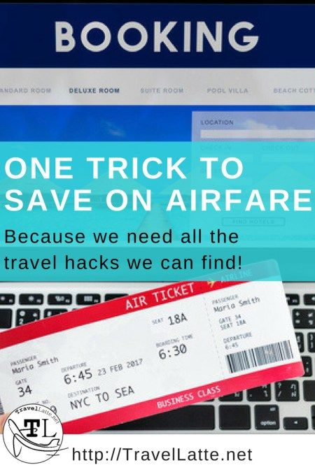 Travel Tips: One Trick to Save on Air Fare via TravelLatte.net