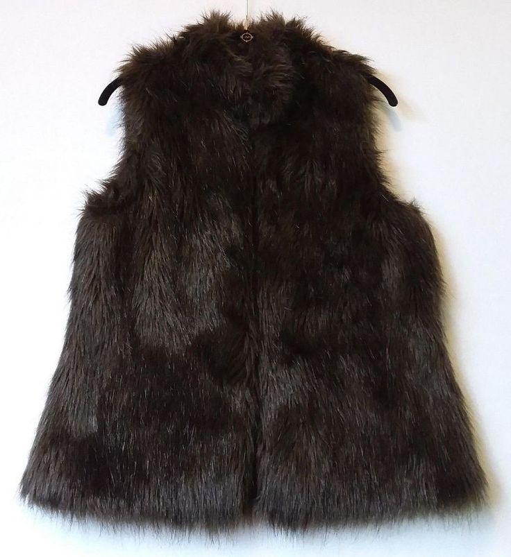 Kenar Faux Fur Vest Brown Size Large Ladies                                 (C9) #Kenar #Vest