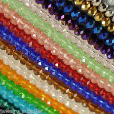 Lotes 50/100pcs Checa Rondelle cristal vidrio Suelto encantos espaciador granos 4/6/8mm