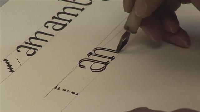 How To Learn To Write A Calligraphy Alphabet For Score