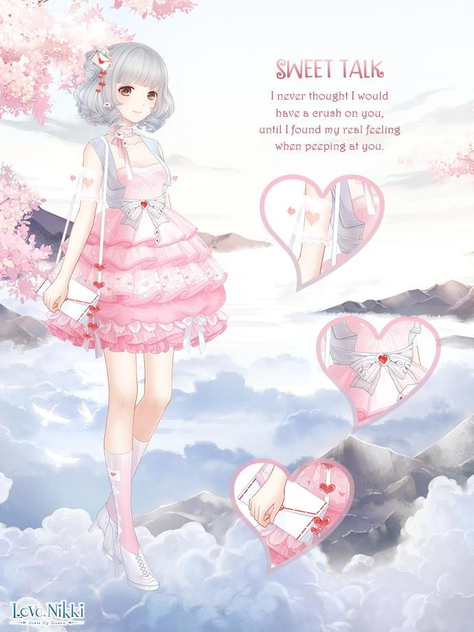 Sweet Heart Anime Costumes Nikki Love Anime Outfits