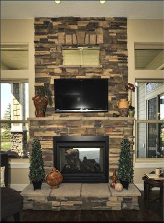 Double sided fireplace indoor/outdoor   fireplaces   Pinterest