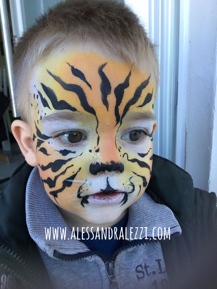 Face painting ideas for kids - Tiger