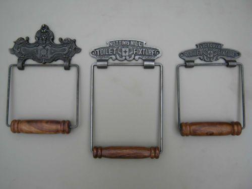 Vintage Toilet Roll Holders in Cast Iron & Hardwood - Classic / Victorian | eBay