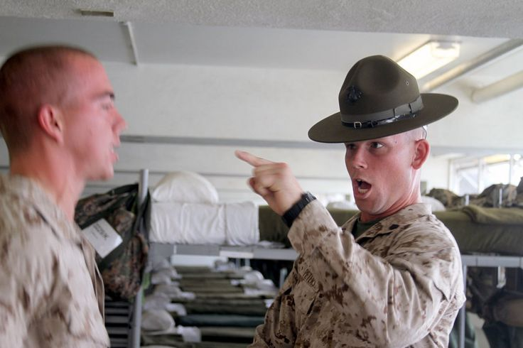 29 pictures of marine drill instructors screaming in
