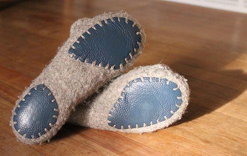 Пример экономной подошвы :) Yarbex. French Press Felted Slippers