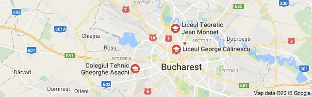 Map of liceul 24 bucuresti