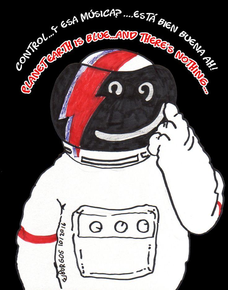 #cartoon #cosmonaut #bowie