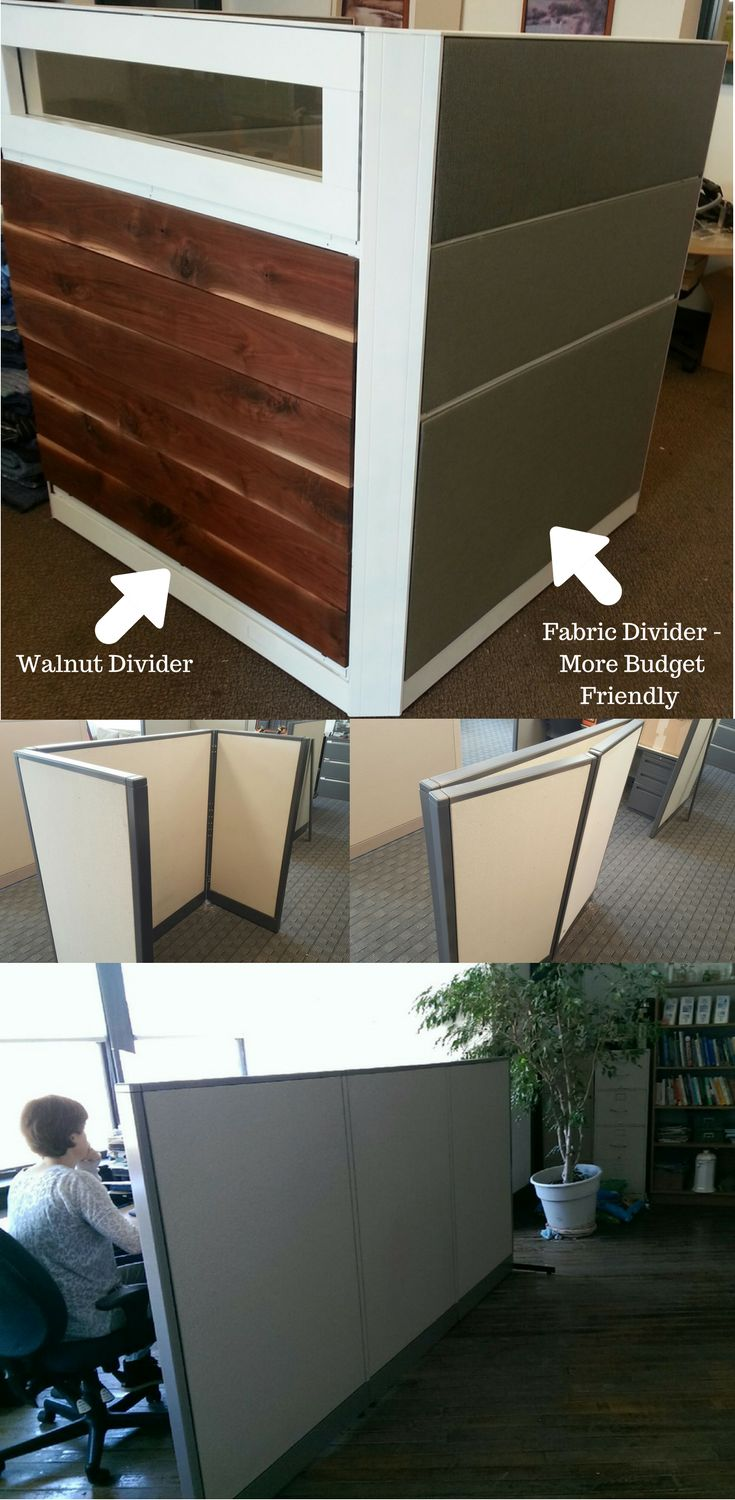 Find This Pin And More On Office Dividers Room Dividers Used Office Partitions Desk Partition Panel Dividers
