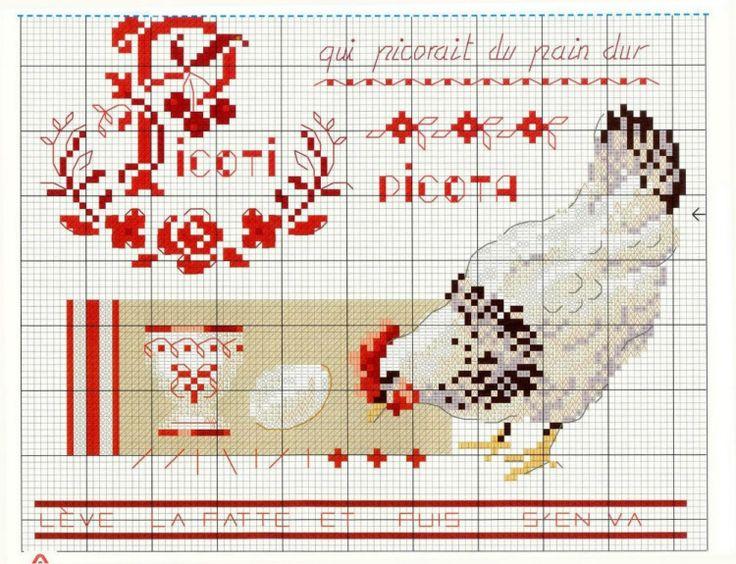 17 meilleures images propos de poulettes oies broderie point de croix chicken cross - Veronique enginger grille gratuite ...