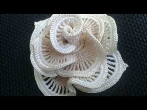 Flores modernas a crochet 2017 - YouTube