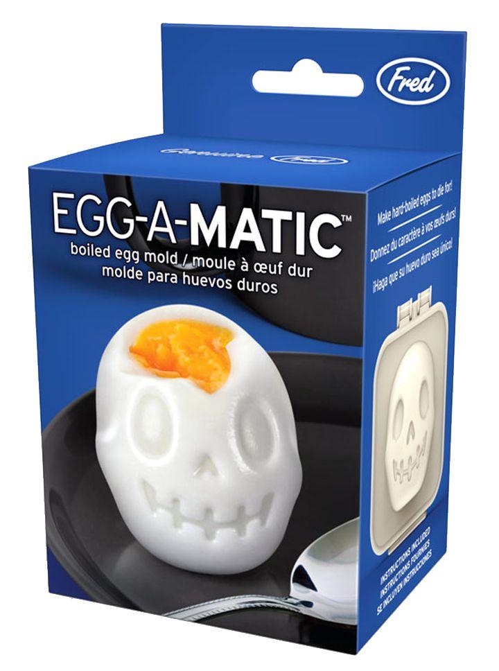 """Egg-A-Matic Skull"" Boiled Egg Mold by Fred & Friends #InkedShop #egg #mold #skull #cooking #kitchen"