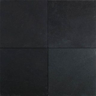 Black slate tile - contemporary - floor tiles - dallas. Via Houzz.