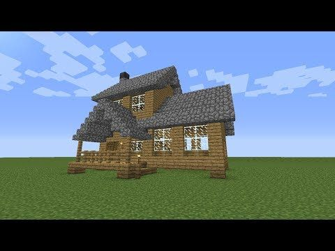 Minecraft: How To Build A Wooden House -- Medium Size -- - YouTube