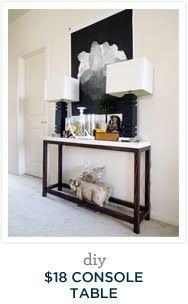 DIY Console Table | Desert Domicile  Maybe add a high shelf for storage baskets. Lord knows I need more storage.