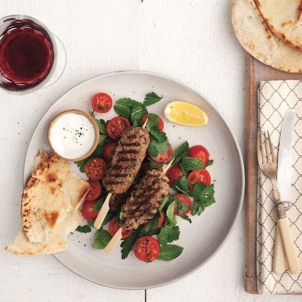 A quick and easy weeknight dinner with Middle-Eastern inspired flavour. Get this beef kebab recipe and more at Chatelaine.com