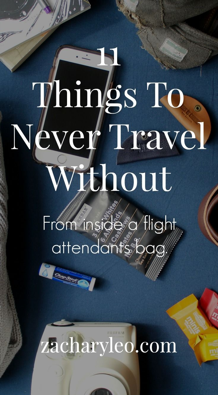 The carry on list to survive any vacation from a flight attendant himself - zacharyleo.com