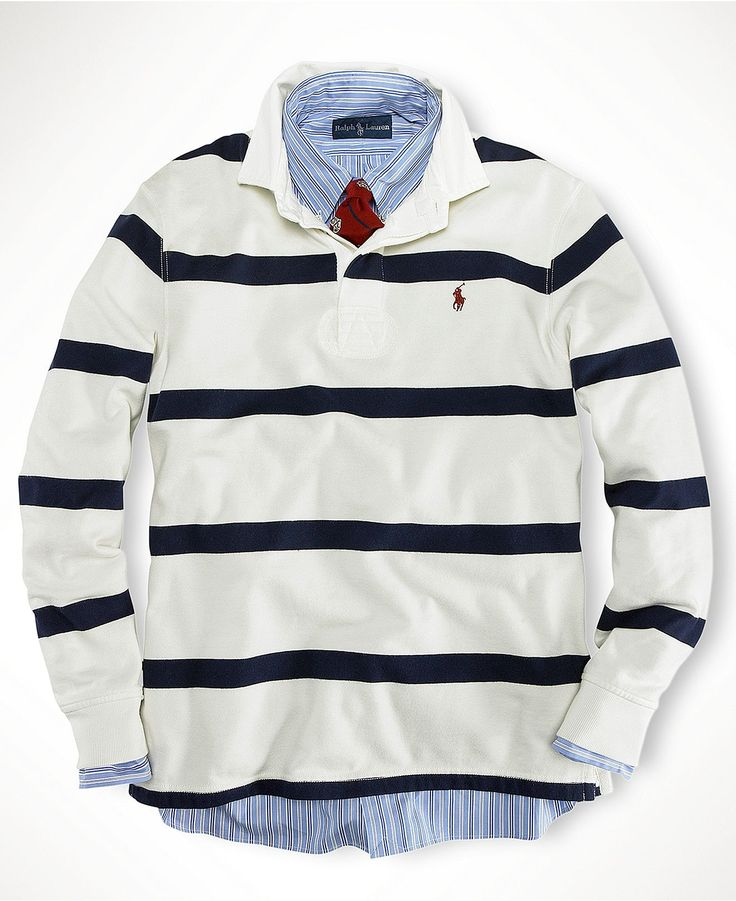 Polo Ralph Lauren Shirt, Stripe Rugby Shirt - Mens Polo Ralph Lauren -  Macy\u0027s