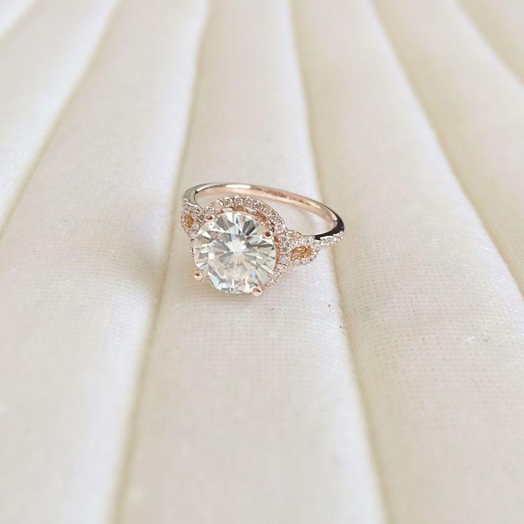 68 best Halo Rings images on Pinterest Halo rings Moissanite