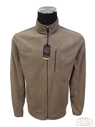 Greg Norman for Tasso Elba Men's 5 Iron Full-Zip Fleece Golf Jacket, Sierra Taupe, S