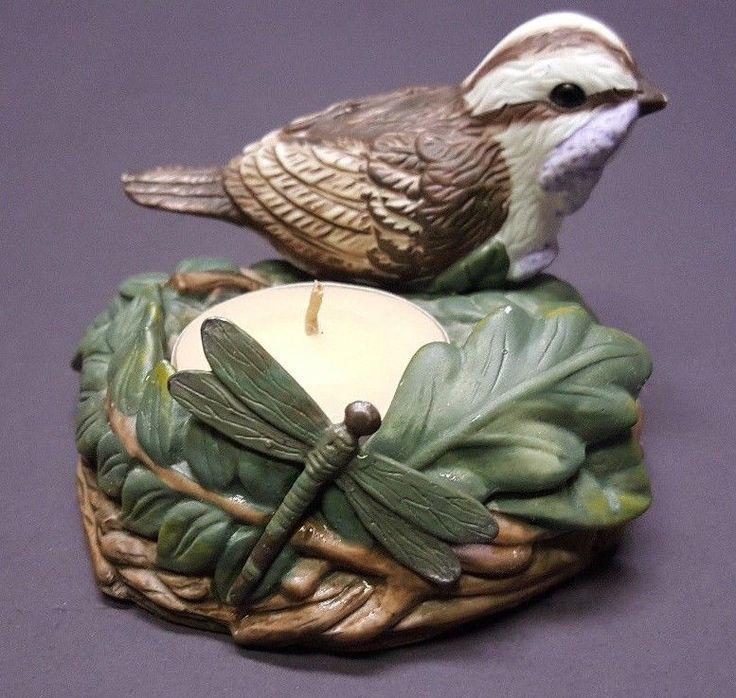 Pfaltzgraff Naturewood-Sparrow's Nest Tea Light Candle Holder - Rare! springtime #Pfaltzgraff