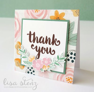 Lisa's Creative Corner: CTMH Sunny Thoughts Mini Gift Card