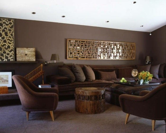 Les 25 meilleures id es concernant murs marron sur for Quelle peinture pour meuble