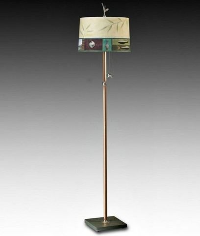 The 25 best paper floor lamp ideas on pinterest bedside lamps copper floor lamp with large drum shade in twin fish 685 mozeypictures Gallery