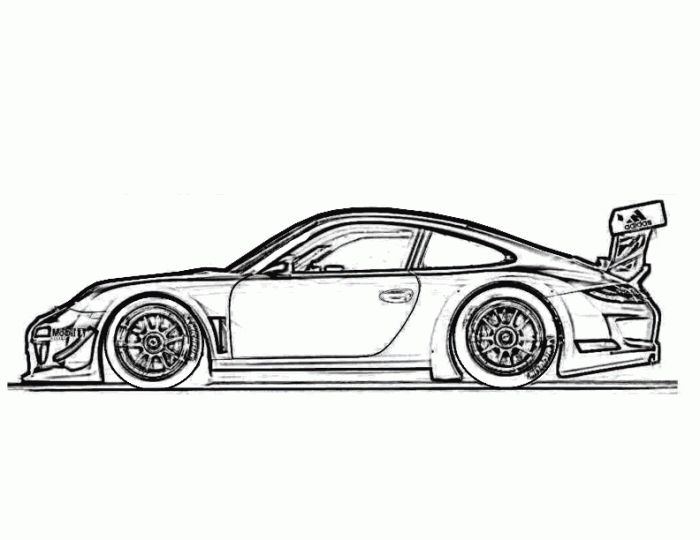 Cool Cars Coloring Pages Free Printable Race Car For Kids