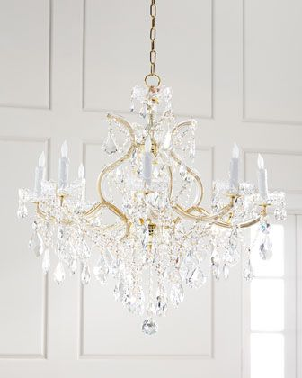 Maria theresa 9 light clear crystal chandelier