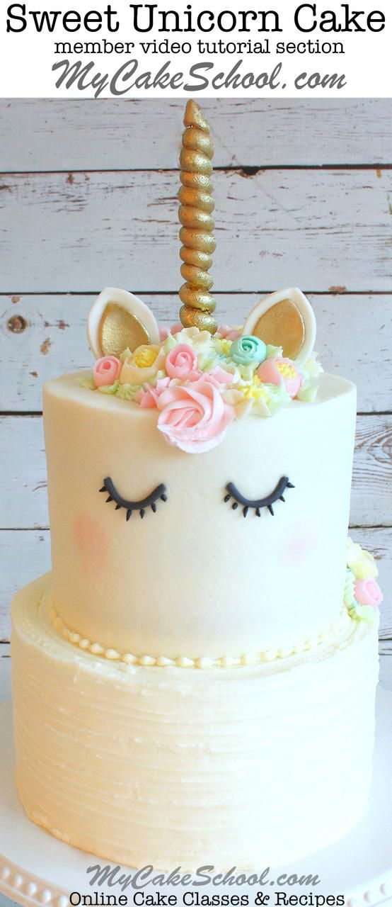 The CUTEST Online Cake Decorating Video Tutorial by MyCakeSchool.com. Online cake classes and recipes!