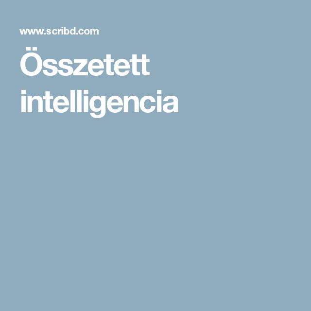 Összetett intelligencia