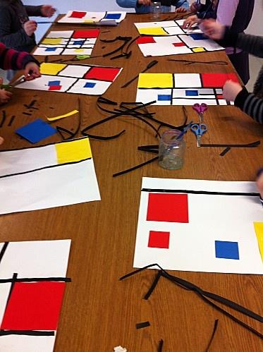 Mondrian en collage