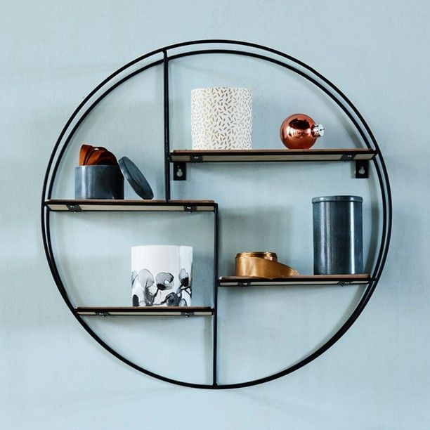 An interesting way to break with straight lines in your home's interior decor. Round shelving unit, price DKK 128,00 / SEK 174,00 / NOK 179,00 / EUR 17,98 / ISK 3438 / GBP 16.86