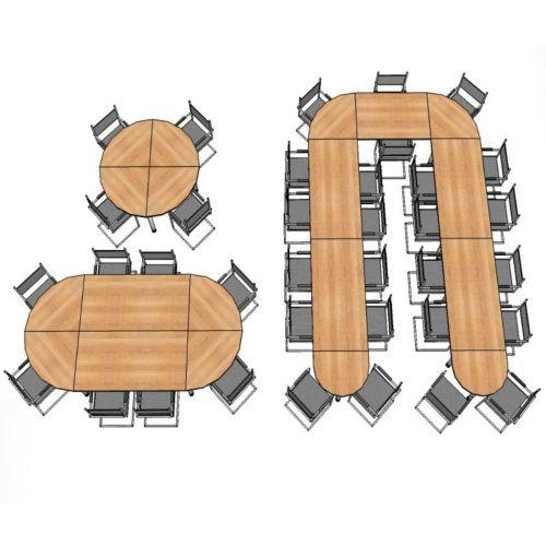 Konferenztisch - Platte (ohne Füße) / Viertelkreis KONTOR 80 x 80cm Grau Grau