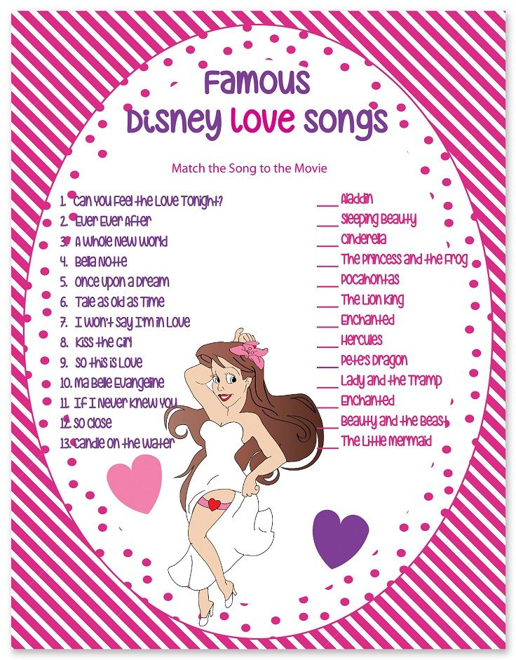 Disney Love Songs. 1.lion king 2. enchanted 3. aladin 4. lady and tramp 5. sleeping beatuy 6. beauty and the beast 7. hercules 8. little mermaid 9.cindrella 10. princess frog 11.pocahontuas 12.enchaned 13 petes dragon