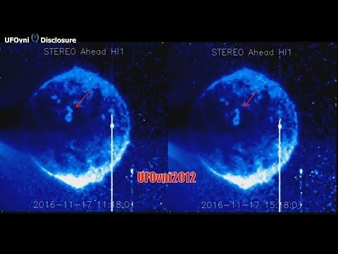 Is this a MASSIVE UFO feeding off SUN energy? - YouTube